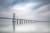 Vasco da Gama blueish profilic (frank_w_aus_l) Tags: bridge architecture portugal lisbon lissabon vascodagama fineart nikon d800 sky reflection concrete morning morgenlicht rain