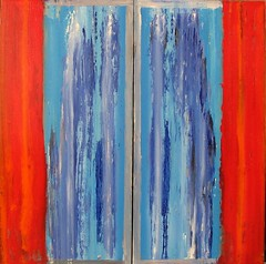 Strange Things appear before my Window (Peter Wachtmeister) Tags: artinformel modernart artbrut acrylicpaint popart abstract abstrakt surrealismus surrealism hanspeterwachtmeister