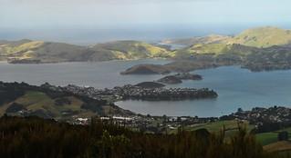 Port Chalmers sur Otago Harbour.