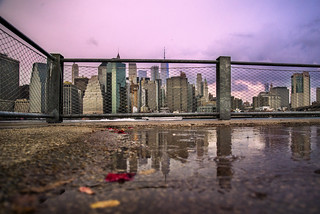 NY skyline reflection