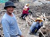 Digging a hole in Somdet, Bangkok (gerrypopplestone) Tags: bangkok digging thailand operative construction building labouring