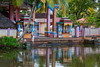 Reflecting the Temple (Bruce Poole) Tags: 2017 alappuzha alleppey backwaters brucesspace canals houseboats india kerala october ആലപ്പുഴ brucepoole temple templesteps hindutemple reflection reflections reflet reflets mirror blues templegate