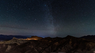 Night sky over the Death Valley