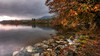 Calm before the storm (Einir Wyn Leigh) Tags: landscape water lake uk cumbria colorful nature weather love pleasure nikon trees autumn october light blue moody leaf autumnal fall cotrast rocks