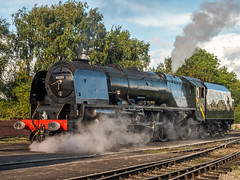 MRC2017-14 (Dreaming of Steam) Tags: 6233 46233 duchess duchessofsutherland heritage heritagerailways lms midlandrailwaycentre princesscoronation princesscoronationclass railway stainer steam steamengine sutherland train vintage engine locomotive railroad smoke steamlocomotive