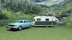Arriving In The Countryside. (ManOfYorkshire) Tags: volvo estate car auto automobile caravan diecast scale model models 176 oogauge diorama detailed oxforddiecast