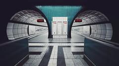 messehallen [pt 1 of 3] (christian mu) Tags: hamburg germany architecture subway ubahn underground messehallen station haltestellemessehallen voigtländer voigtländer1545 15mm 1545 sonya7ii sony christianmu urban metro