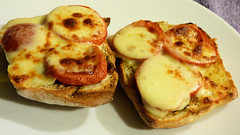 Air fryer cooking (Sandy Austin) Tags: panasoniclumixdmcfz70 sandyaustin westauckland auckland food cheese tomatoes ciabatta buns airoven airfryer northisland newzealand
