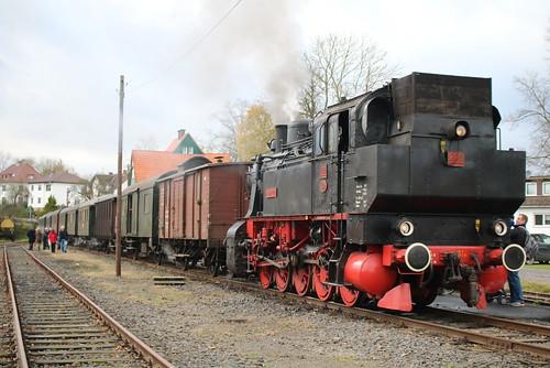 HC: Dampflok HC 206 mit dem Hessencourrier in Naumburg