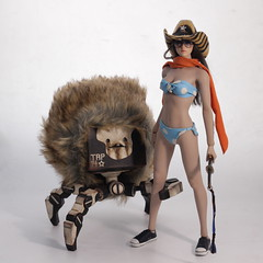 IMG_7538 (TKatagiri) Tags: phicen tbleague pichen seamless stainless steel body action figure asian girl pet robot hairy crab square 3atoy 3a wwr evol onesixth bigini zombies slayer rubber cowgirl