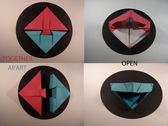 HERS and HIS (firstfold creative origami) Tags: origami box weddinh anniversary