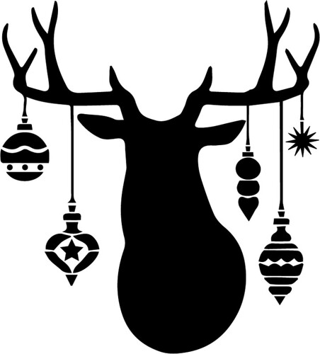 deer with ornaments