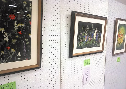 pressed flower compositions, citizen art exhibit