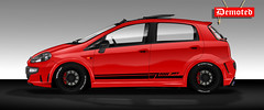 """PUNTO T-JET 2013 STAGE 2 (Pablo Augusto """"Demoted"""") Tags: punto tjet racingstreetcar red photoshopart photoshop design"""