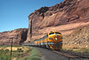 Dodge's Bluff in Ruby Canyon (jamesbelmont) Tags: riogrande drgw rubycanyon coloradoriver dodgesbluff utaline utah colorado zephyr emd f9a streamliner passenger