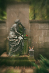 Loss - Waldfriedhof Cemetery (suzanne~) Tags: composer35 grave lensbaby waldfriedhof munich germany sculpture