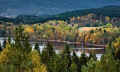 Autumn Landscape (bjorbrei) Tags: autumn fall forest hills trees countryside farm spruces shore lake water sander maridalen maridalsvannet oslo norway