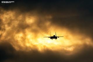 F15E Strike Eagle sunset
