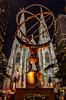 Atlas & St. Patrick's Cathedral (Bernai Velarde-Light Seeker) Tags: atlas statue bronze monument saintpatrickscathedral cathedral church christian catholic night urban city cityscape bernai velarde newyork buildings