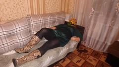 PA290098 (Axelweb) Tags: chubby bbw girl lady female rainwear raincoat pvc shiny wellies rubber boots gas mask plastenky holinky rainsuit rain suit plastic wellington gumboots galoshes gummi gasmask