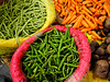 Beans, carrots and finger hots--just the basics! (debra booth) Tags: 2017 grandbazaar india pondicherry pudicherry puducherry copyrighted wwwdebraboothcom