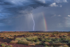 Storm Cell over the Pilbara Western Australia. (jasonsulda) Tags: storm cell pilbara western australia lightening rainbow triodia mountains outback desert vast arid wilderness red rock sand clouds rain