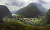 After the rain (Mika Tuomela) Tags: norway fjords flåm mist mistymountains landscape landscapephotography scandinavia river town mountains mountainsclouds mountainlandscape mountainscenery greenscenery rainy nikond750 nikkor20mmf18g panorama verticalshotspanorama travel traveller sognogfjordane southernnorway vestlandet