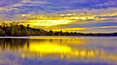 Like A Dream (Bob's Digital Eye) Tags: 2017 25secs autumn autumnleaves autumnsunset bobsdigitaleye canon canonefs1855mmf3556isll flicker flickr h2o laquintaessenza lakesunsets lakescape landscape nd400filter sunset sunsetsoverwater t3i water trees softfocus sky