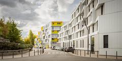 Rue de l'Asie (CrËOS Photographie) Tags: lille hautsdefrance france architecture moderne modern street rue immeubles buildings couleur color colour perspective cityscape