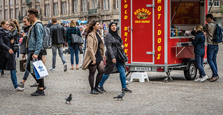 Hot dogs in Dam Square