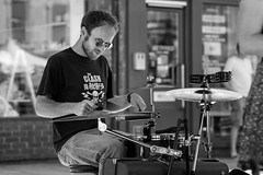 The Clash (Silver Machine) Tags: andover hampshire streetphotography street streetperformers band drummer festival outdoor beard sunglasses candid candideyecontact fujifilm fujifilmxt10 canonfd85mmf18
