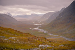 On top of the Tjäktja pass (brechtvhb) Tags: kungsleden atumn hiking backpacking lapland sweden landscape north arctic clouds mountains delta
