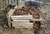 DSC06890 MCDBSh Leaf corral--timbers (David H. Thompson) Tags: leafcorral compost recycling leafdisposal leaftea composting fall