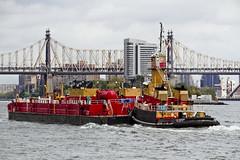 r_171016211_beat0065_a (Mitch Waxman) Tags: bigallis citywideferry eastrivershoreline newyorkcity newyorkharbor queensborobridge reinauer tugboat newyork