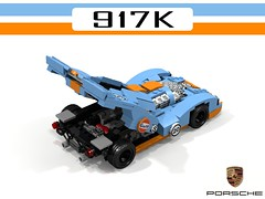Porsche 917K Gulf Racing (lego911) Tags: porsche 917 k 917k kurz 1970 1971 gulf racing boxer lemans auto car moc model miniland lego lego911 ldd render cad povray lugnuts challenge 120 happy10thanniversarylugnuts happy 10th anniversary germany german racer 18 attheraces races