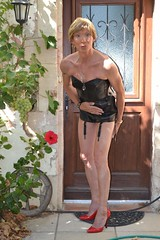 To remember summer Pour se souvenir de l'été (magda-liebe) Tags: outdoor travesti crossdresser corset french highheels