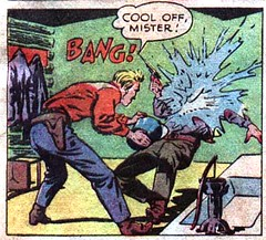 Cool off mister! (Tom Simpson) Tags: westerncomics comics cowboy cooloff splash water 1949 1940s howardsherman vintage