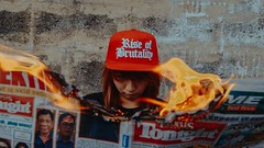 IMG_5910-2 (Niko Cezar) Tags: rise of brutality bag shirt clothing hypebeast modern notoriety aesthetic cinematic art photography canon portrait product shot fire cap