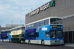 LRT Volvo Olympian '367' (Longreach - Jonathan McDonnell) Tags: edinburgh lothian volvo edinburghairport egph airportbus 1158036 nikoncoolscanved scanfromaslide scan volvoolympian alexander f367wsc lrt lothianregionaltransport guidefriday 1990 1996 23091996 367 lrt367 baa britishairportsauthority globalinfrastructurepartners