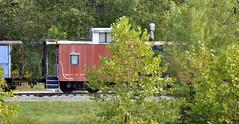 Logan, Ohio (5 of 5) (Bob McGilvray Jr.) Tags: logan ohio caboose railroad train tracks steel hvsry hockingvalleyscenicrailway siding parked stored storage conrail reading missouripacific clinchfield penncentral