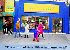 Here I Am (kirstiecat) Tags: argyle chinatown chicago people strangers blue street canon literature book novel jonathansafranfoer hereiam quote diptych mother child question read