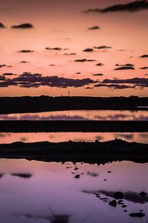 dawning in the saline ponds of ibiza  -  amaneciendo en los estanques salineros de ibiza