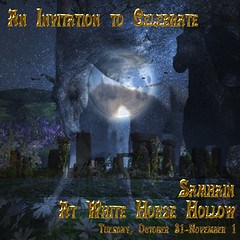 Samhain 2017 in White Horse Hollow (honeyheart1) Tags: samhain druid pagan occult wicca wiccan halloween celebration whitehorsehollow sl secondlife