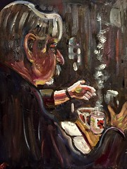 John Alves, a Friend (The Big Jiggety) Tags: art arte kunst joao alves portuguese interepreter portrait oil canvas huile toile oleo lienzo mustache moustache intense hands mains manos