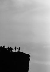 Strike a Pose at the Edge of the World 2 (AbbasiAli) Tags: ireland dublin cliffs cliffsofmoher blackwhite bw canon westireland tokina rain autumn fall weather roadtrip travel seagulls sea coast alantic ocean wildatlanticway clare county