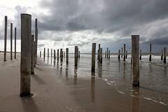 Poles (peeteninge) Tags: poles beach ocean holland clouds palen strand wolken noordzeekust sonyrx10 sony