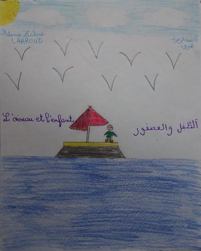 """dessin """"l'oiseau et l'enfant"""" (7)"""