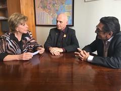 04/10/17 - Reunião com dirigentes da CDL - Câmara de Dirigentes Lojistas. Com Carlos Frederico Schmaedcke e Enilto José dos Santos.