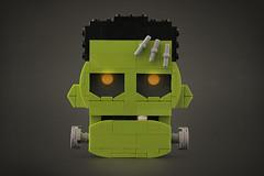 The Frankenstein Monster (Legohaulic) Tags: lego head monster frankenstein halloween
