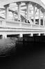 Crossing the Bridge. (monkeyanselm) Tags: kodak retinette ib rodenstock reomar 45mmf28 trix singapore bridge bw analog film photography